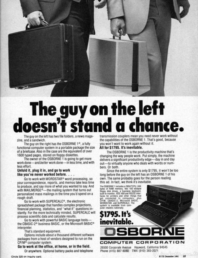 Pirmasis laptopas pasaulyje