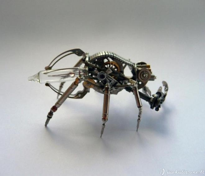 Steam punk'inės miniatiūros