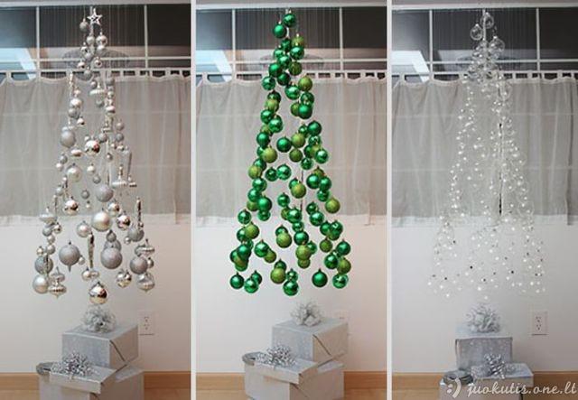 Improvizuotos Kalėdų eglutės