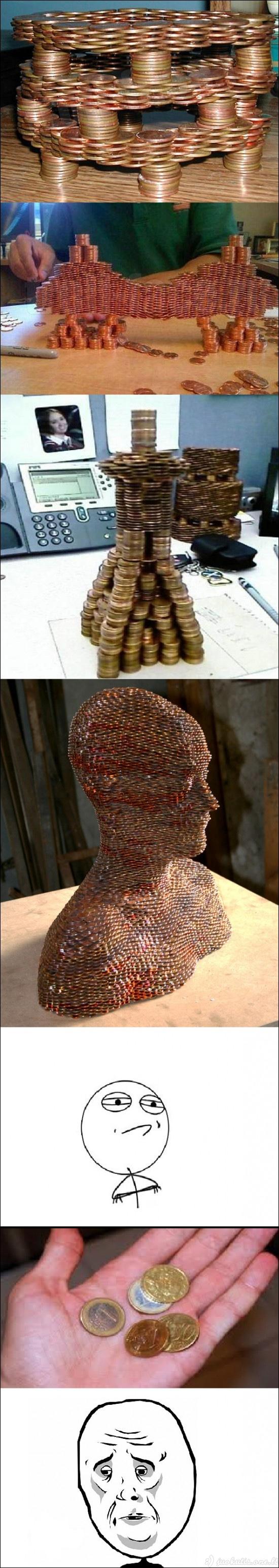 Menas iš monetų