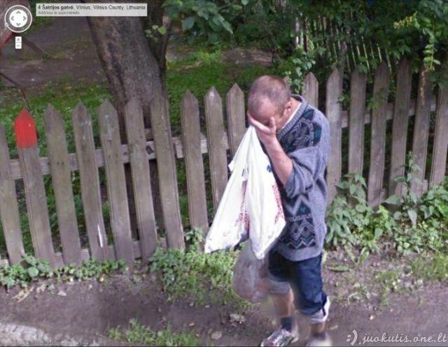 Google street view perliukai