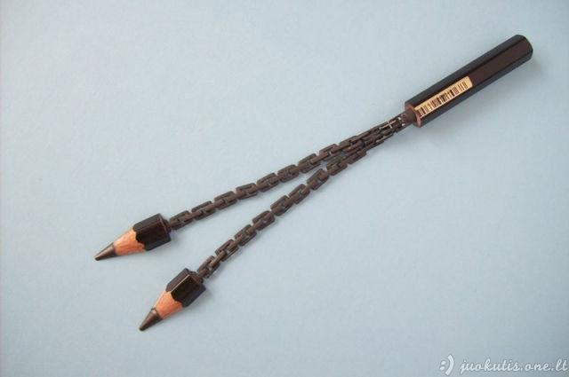 Fantastiškos skulptūros iš pieštukų