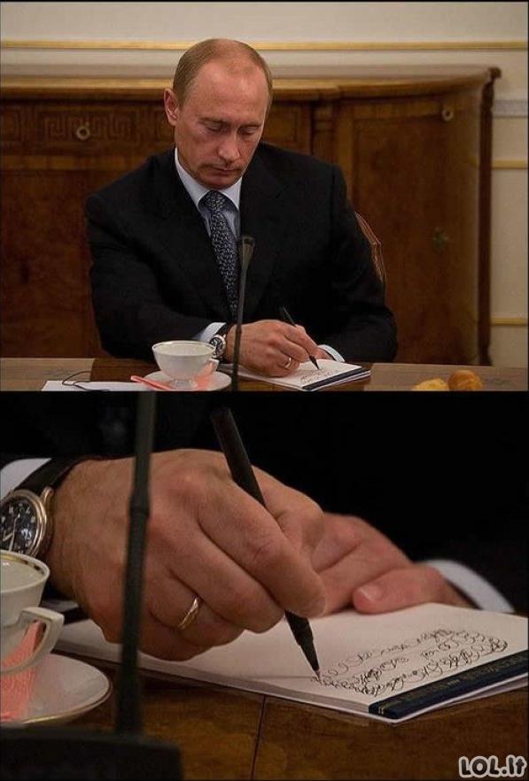 [LOL.LT Archyvų perliukai]: Asmeniniai Putino užrašai