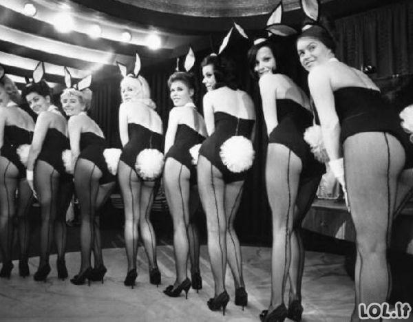 Playboy zuikučiai anksčiau ir dabar