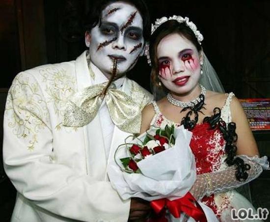 Keisčiausios vestuvių nuotraukos
