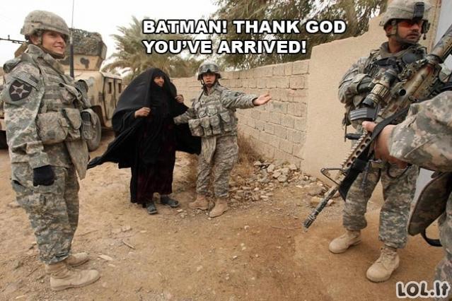 Betmenas skuba į pagalbą