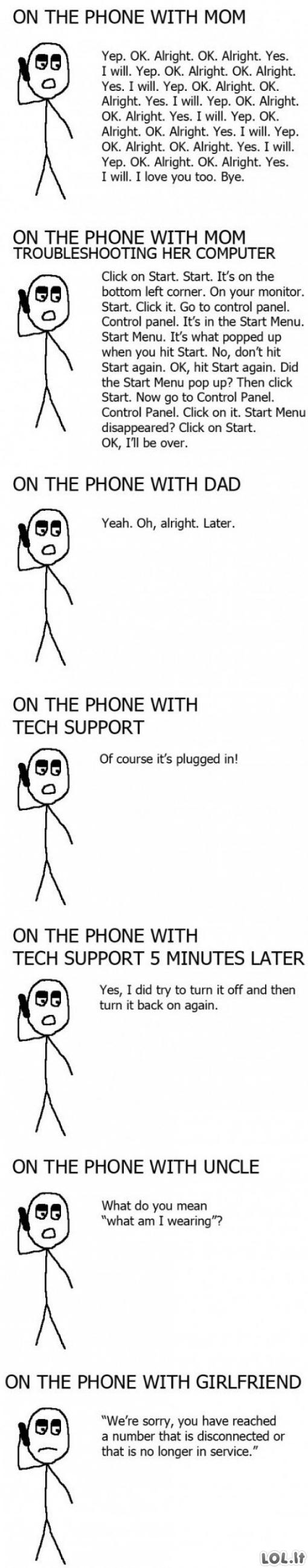 Pokalbiai telefonu