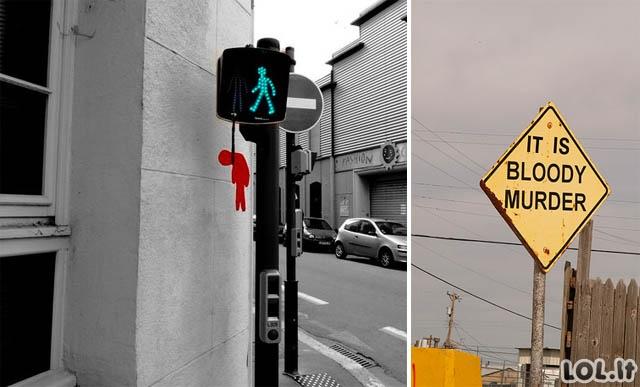 Išradingiausi kelio ženklai