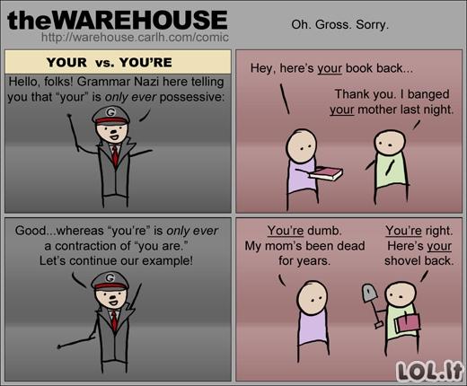 Grammar nazi comics