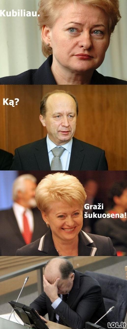 Prezidentės komplimentai Kubiliui