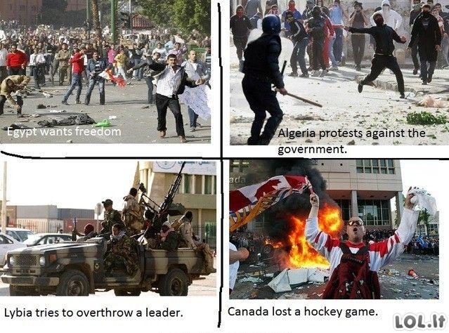 Skirtingi protestuotojų tikslai