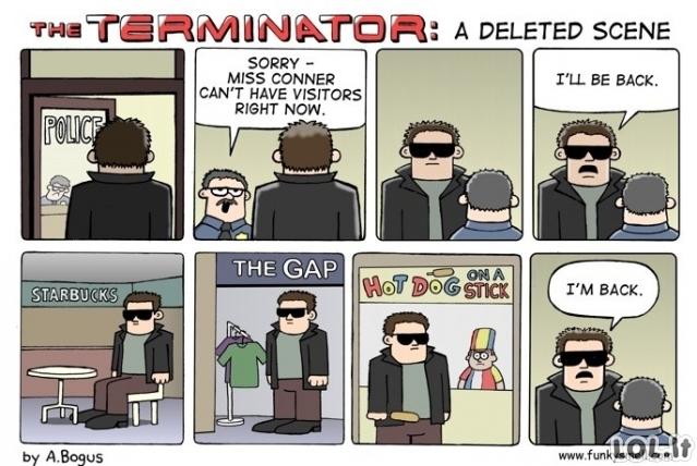 Ištrinta Terminatoriaus scena