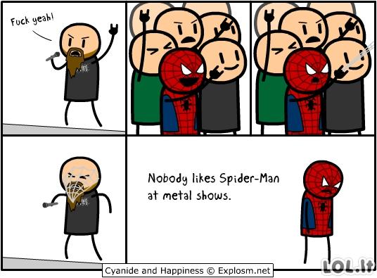 Žmogus voras metalkonce