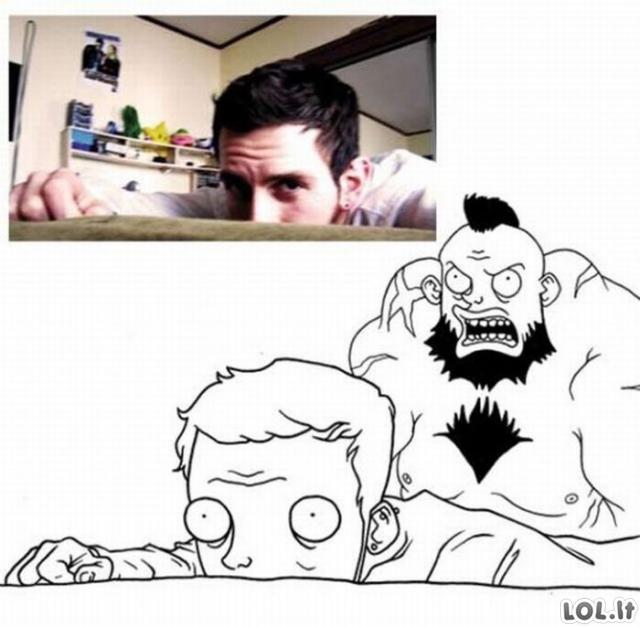 Feisbukiečių karikatūros