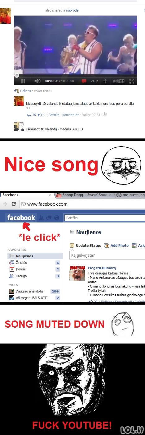 Youtube trollina ir facebook'e