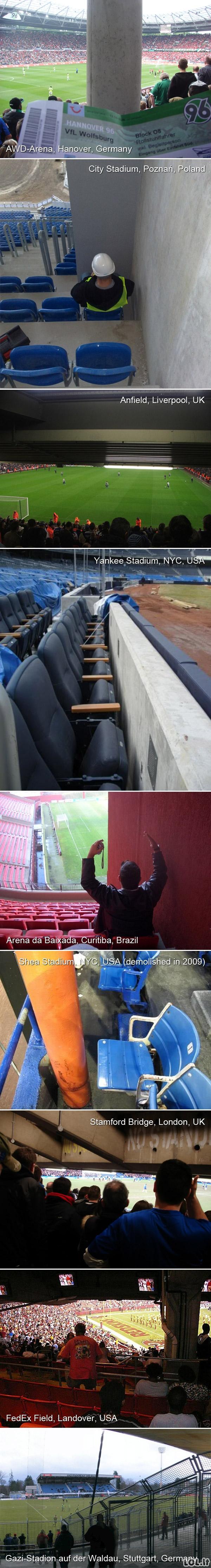 Ne pačios geriausios stadionų vietos