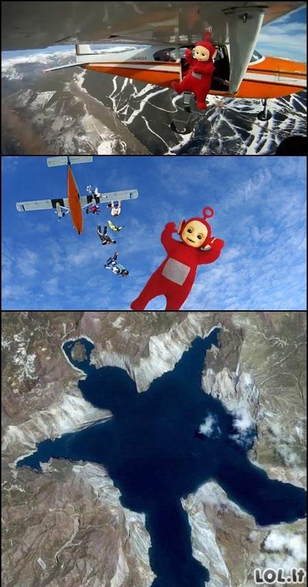 Parašiutą pamiršus