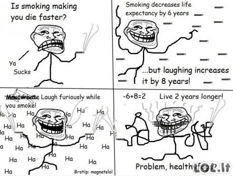 Rūkymas kenkia sveikatai?