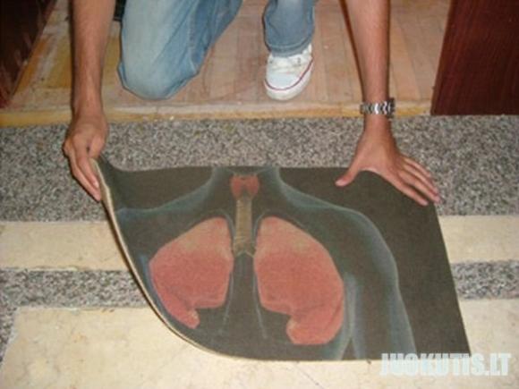 Įmantrus durų kilimėlis