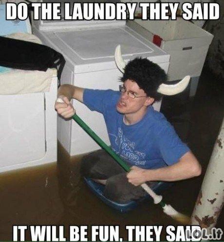 Išskalbk drabužius