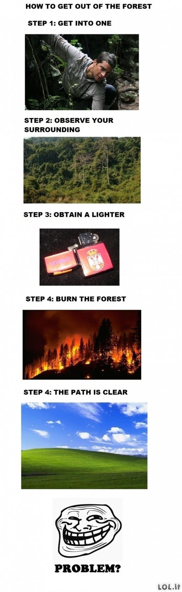 Kaip išeiti iš miško