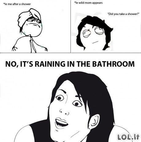 Netikėtas lietus