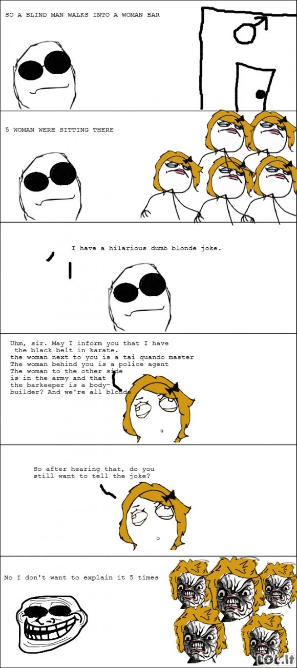 Anekdotas apie blondines
