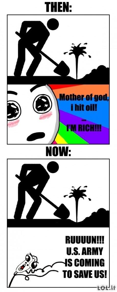 Nafta anksčiau ir dabar