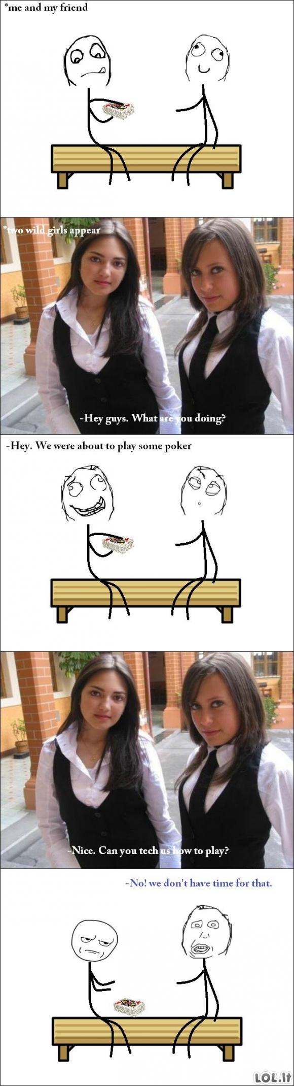 Pokerio merginos