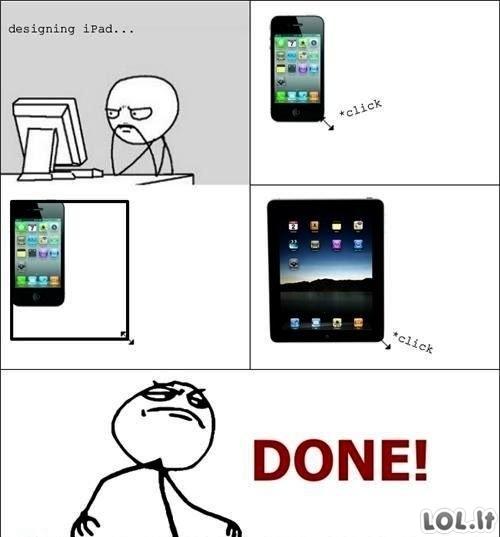 iPado kūrimas