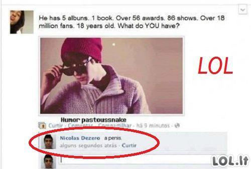 Bieberio pasiekimai