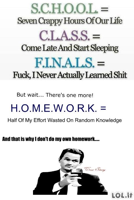 Namų darbų nedarantiems