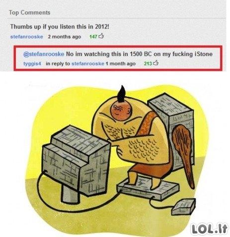 Akmens amžiaus youtube