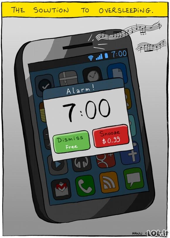 Kaip ryte nepramiegoti