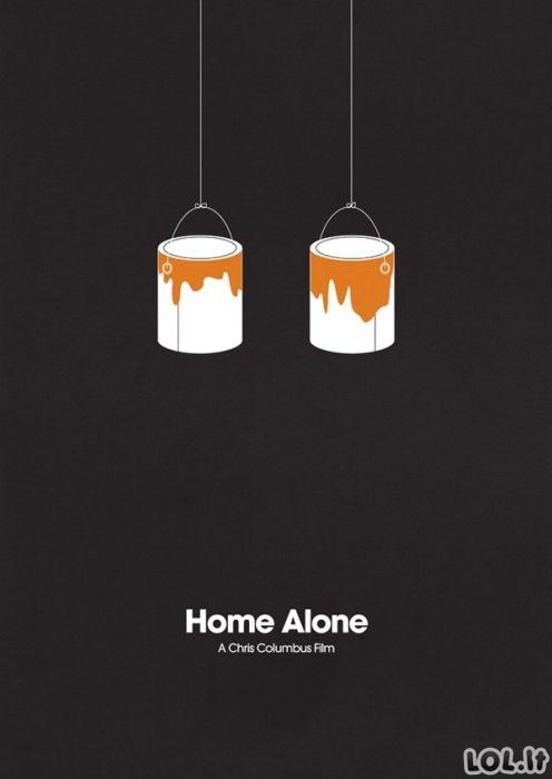 Minimalistinių filmų plakatų top-10