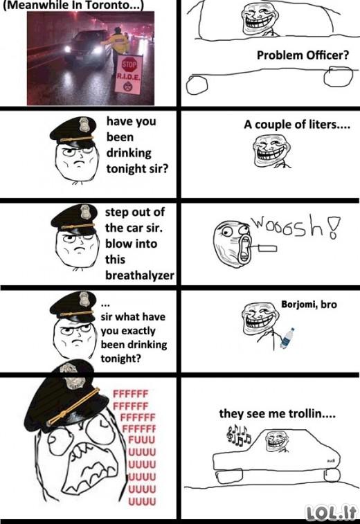 Policininko trolinimas