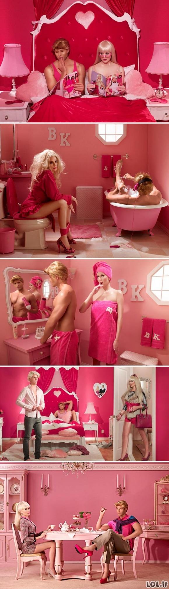 Barbė ir Kenas realiame gyvenime