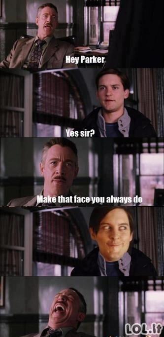 Juoką kelianti veido išraiška