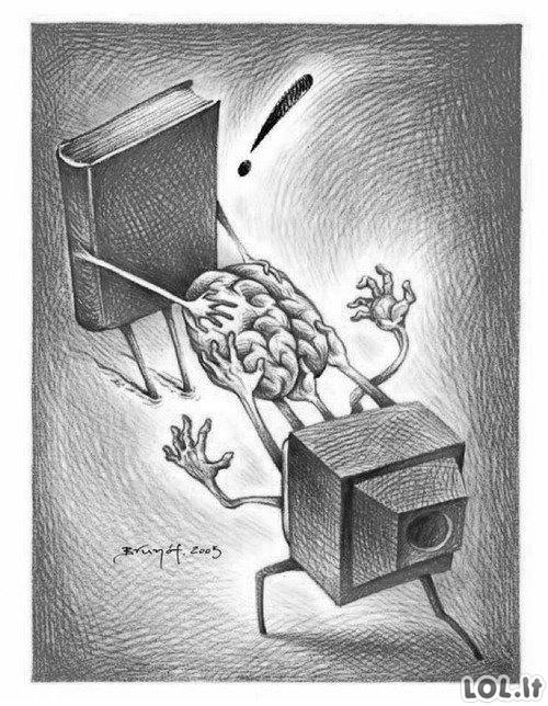 Televizija vs. Knygos