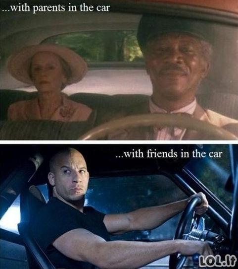 Kaip tu varuoji automobilį