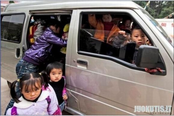 Kinijos mokyklos autobusas