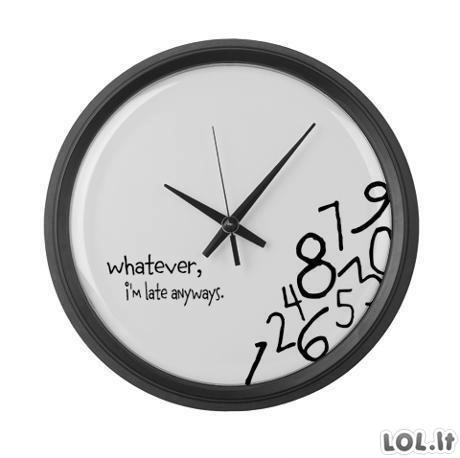 Nevėluojantis laikrodis
