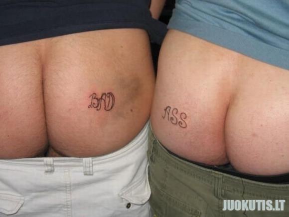 Užpakalių tatoo