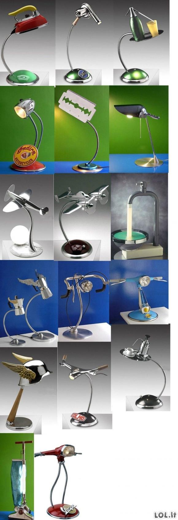 Naujoviški lempų dizainai