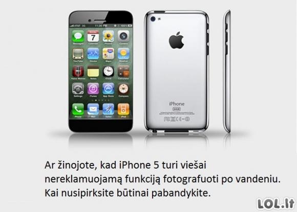 Nauja iPhone'o funkcija