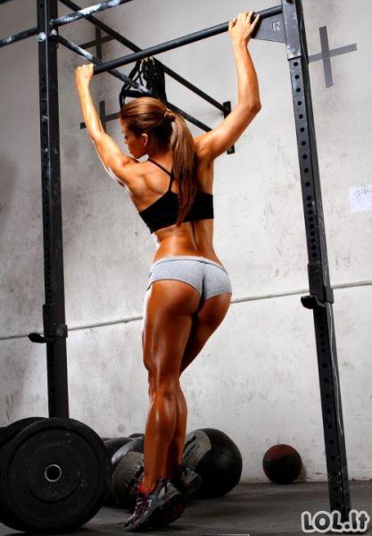 Sportuojančios merginos