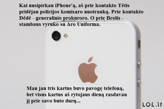 Gera idėja telefono apsaugai nuo vagių