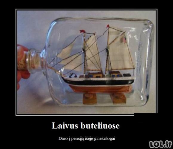 Apie laivus buteliuose