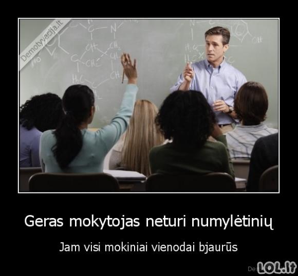 Tiesa apie mokytojus