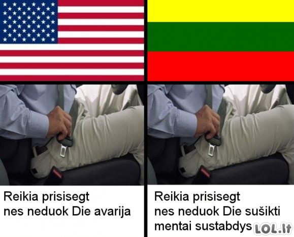 Lietuvių vairavimo ypatumai